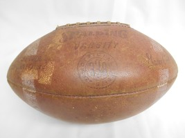 Old Vtg Spalding Football Pigskin Varsity #338 Gary Collins Autograph Model Ball - $98.99