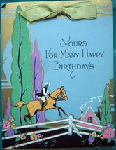 Vintage Yours For Many Happy Birthdays Card 1920s - $8.99