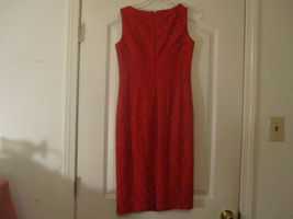 Anne Klein Womens Red Crochet Dress Lined Sleeveless Size 2 image 7