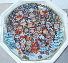 """Christmas Holiday Cat Plate """"Santa Claws"""" Bill Bell Franklin Mint - $11.99"""