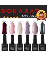 Bokarat Supper Set 7.3ml x 6pcs ~Snow Queen~ Soak Off Gel Nail Polish UV... - $21.99