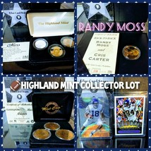 RANDY MOSS ROY Highland Mint Gold Silver 24K Gold Coin Proof Set Collect... - $462.83
