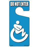 Handicap Bathroom Do Not Enter Novelty Metal Door Hanger - $12.95
