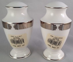 Lenox china Jewel platinum salt & pepper shaker ( NEW )  FREE SHIPPING - $60.00