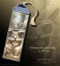 Steampunk Cat Daddy Bookmark - $3.00
