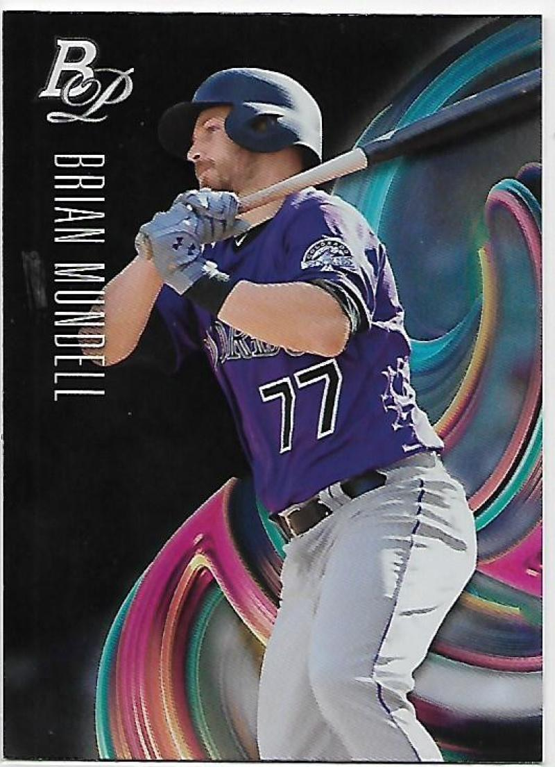 Primary image for 2018 Bowman Platinum Top Prospects #TOP-48 Brian Mundell NM-MT Rockies