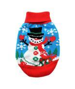 Holiday Snowman Ugly Dog Sweater by Doggie Design Christmas Combed Cotto... - $24.99