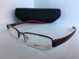 New Nike NK 8074 206 51mm Semi-Rimless Shiny Bronze Eyeglasses Frame - $95.62