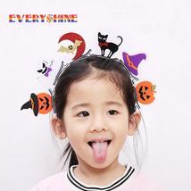 1pcs Cute Glitter Halloween Girls Hairpins Solid Felt Hat Ghost Pumpkin ... - €1,01 EUR