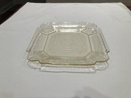 Antique Yellow Depression Glass Vintage Lorain Basket Salad Plate - $13.95