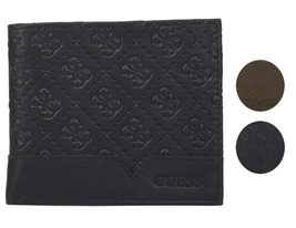 Guess by Marciano Men's Leather Billfold Zipper Coin Pocket Wallet 31GU130027