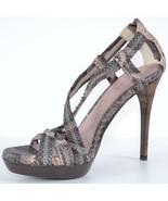 New Burberry Prorsum $950 Degrade Python Snakeskin Nova Check Shoes 39 9 - $260.14