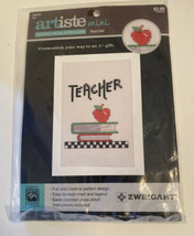 Artiste Zweigart Mini Counted Cross-Stitch Card - Teacher  - $4.50