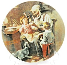 Vintage Knowles Norman Rockwell The Toy Maker Christmas Plate 1977 - $22.00