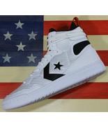 CONVERSE Fastbreak Cascade Leather HI White Black Orange Men's Shoes [16... - $68.44+