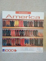 Sure-lox Southwest America Ornate Cowboy Boots 1000 Piece Puzzle - $14.84