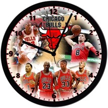 "Chicago Bulls Homemade 8"" NBA Wall Clock w/ Battery Included - $23.97"