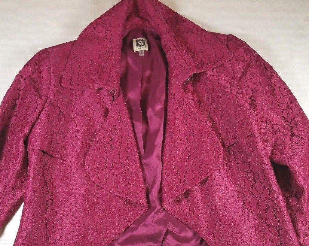 ANNE KLEIN Women's Jacket Pink Sz-6 Orchid Dress Casual NWT