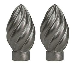Urbanest Set of 2 Worcester Finial, 2 3/8-inch Tall, Pewter - $19.79