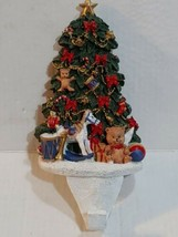 "Large Resin Christmas Tree Stocking Holder Horse Teddy 10"" - $39.59"