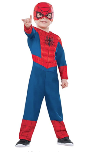 Rubie's Marvel Super Hero Adventures Spiderman Halloween Costume Toddler 1-2 NEW