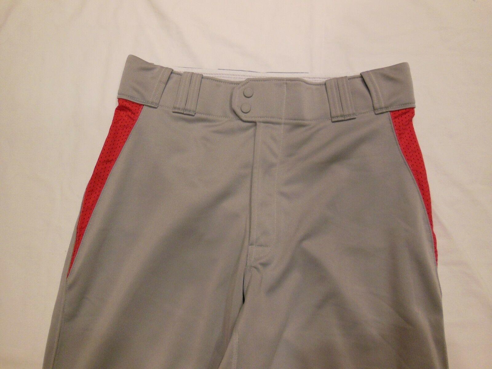 MENS NWT RAWLINGS XXL 2XL PINSTRIPE BASEBALL PANTS GRAY RED BRAND NEW