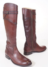 Frye 3476111 Womens Molly Redwood Leather Button Tall Riding Boots 6.5 - $151.99