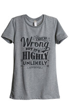 Thread Tank Highly Unlikely Women's Relaxed T-Shirt Tee Heather Grey - $24.99+
