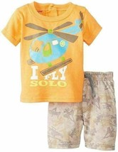3/6M Infant Boy's Shorts Tee Shirt 2-piece Set Baby Kids Headquarters Helicopter