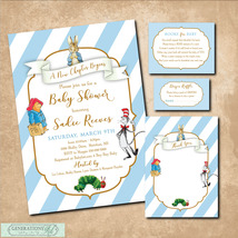 Storybook Baby Sower Invitation PRINTABLE -Book Request,Diaper Raffle,No... - $28.95