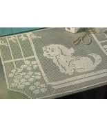 Faithful Companion Dog Shepherd Retriever Crochet Wall Decor Pillow Mat ... - $8.99