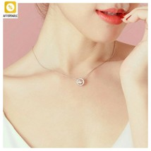 Choker Necklace Women Shiny Pendant Aesthetic Jewelry Cubic Zirconia Fas... - $7.00