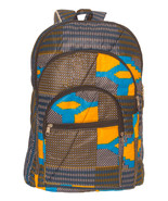 African Kente Cloth Adult Sized Backpack Black Blue - $49.00