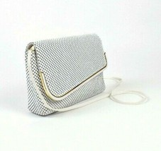 Vintage 1990s White Fish Scale Beaded Purse Shoulder Bag Retro - $19.79