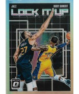 Rudy Gobert Donruss Optic 18-19 #3 Lock It Up Silver Prizm Utah Jazz - $1.25