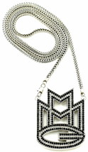 Mmg Halskette Neu Kristall Strass Anhänger 91.4cm Franco Stil Chain - $37.71