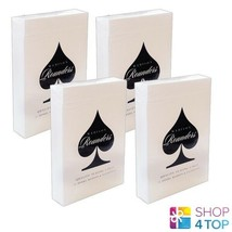 4 Decks Bicycle Madison Rounders Ellusionist Playing Cards Black New - $49.69