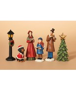 6 PIECE HAND PAINTED RESIN HOLIDAY CAROLER FIGURINES CHRISTMAS TABLETOP ... - $19.88