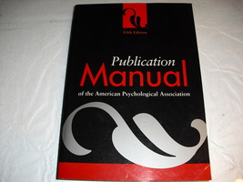 publication  manual  of  the  america  psychological  association  5  th... - $4.99