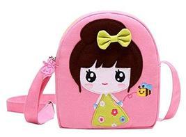 Panda Superstore Cotton Cloth Bag Children Bag Princess Messenger Bag Travel Sho - $15.35