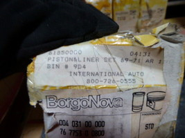 BorgoNova Cylinder Liner and Piston 61850000, 76 7753 0 0800, 004 031 00 000 image 2