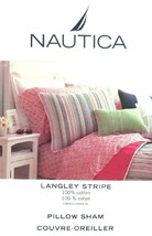 LANGLEY STRIPE BY NAUTICA MULTICOLOR PILLOW SHAM BEDDING NEW - $276,25 MXN