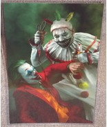 Twisty The Clown vs The Joker Glossy Art Print 11 x 17 In Hard Plastic S... - $24.99