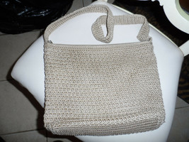 Medium Brown woven handbag and woven handle from The Sak - $8.99