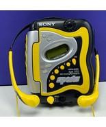 Sony Walkman vintage sports mega bass yellow WM-FS420 vtg am/fm black he... - $148.50