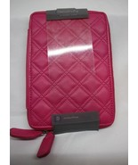 """E-Reader Case by Relativity ~ Pink Quilted ~  Zip Closure ~ 5.5"""" x 8"""" ~ New - $13.66"""