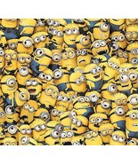 """Despicable Me Yellow Packed Minions Premium 100% cotton Fabric Remnant 29"""" - $8.81"""