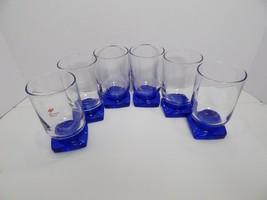 "Bormioli Rocco Italy Cobalt Blue Tequila Shot Glasses Set of 6 3.5"" Tall - $29.99"