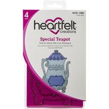 Lot Set Heartfelt Creations Dies+Stamp Set Tea Time Collection: Special Teapot,  - $45.95