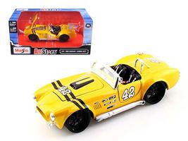 1965 Shelby Cobra 427 #42 Yellow 1/24 Diecast Model Car by Maisto - $52.99